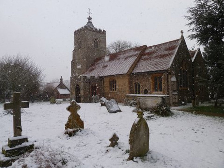 Little Cornard Church in the Winter