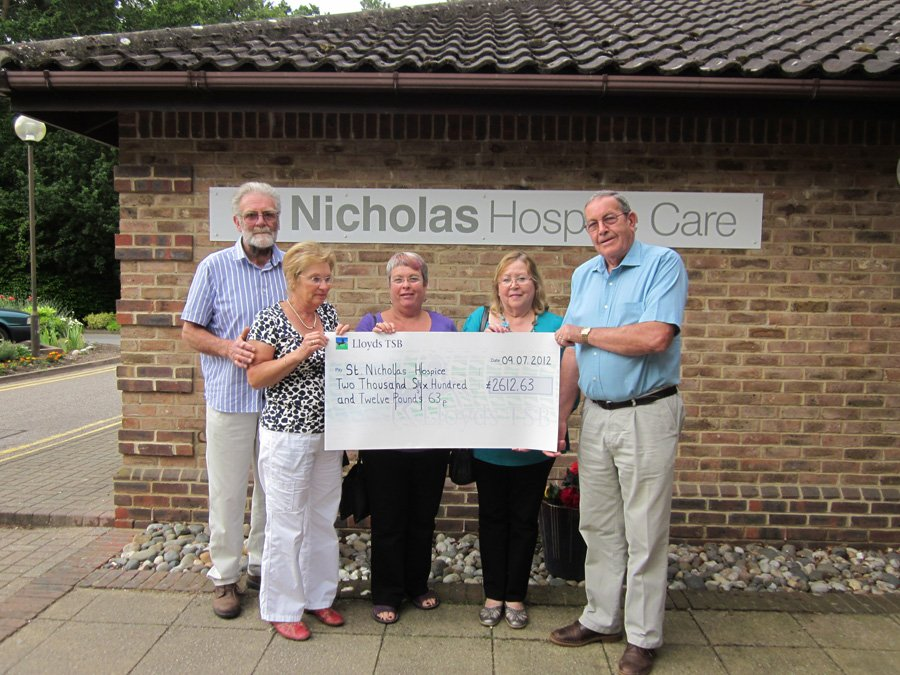 Flower Festival Donation to St Nicholas Hospice
